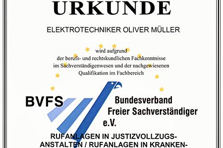 Mitglied im Bundesverband freier Sachverständiger e.V.