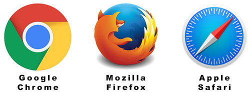 getestete Browser: Google Chrome, Mozilla Firefox und Apple Safari
